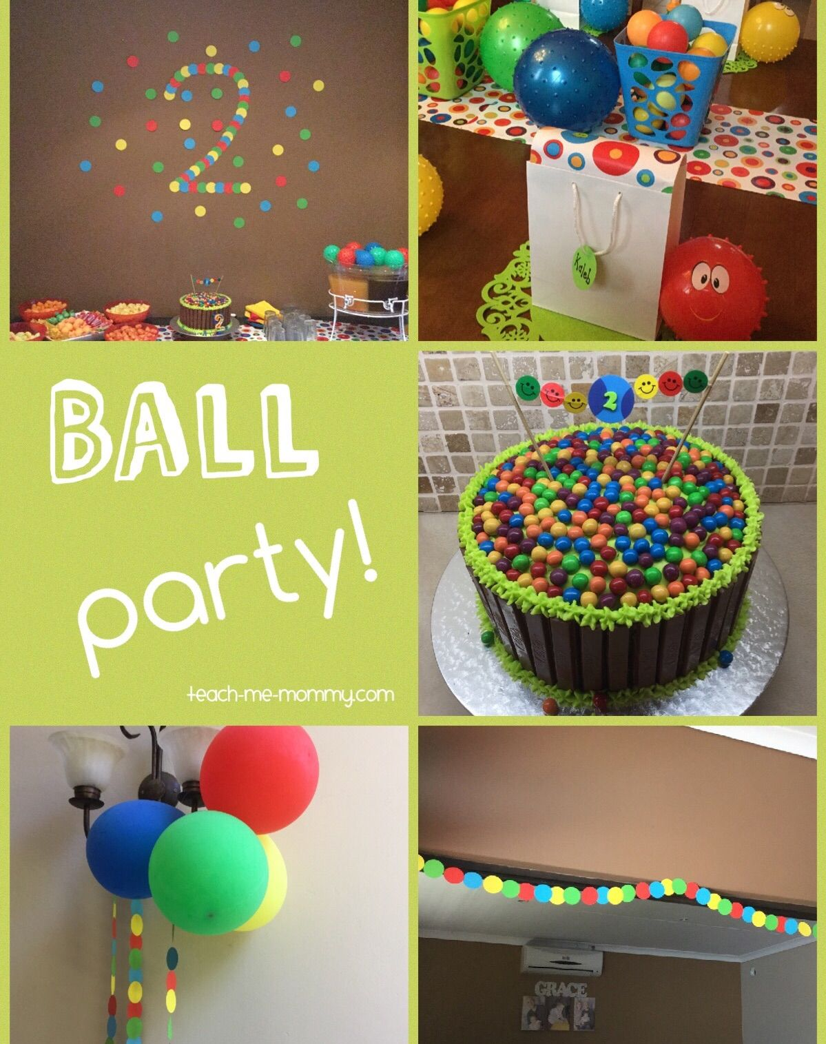 Ball Themed Party for a 2 Year Old Themed parties Birthdays and