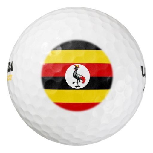 Ugandan flag pack of golf balls