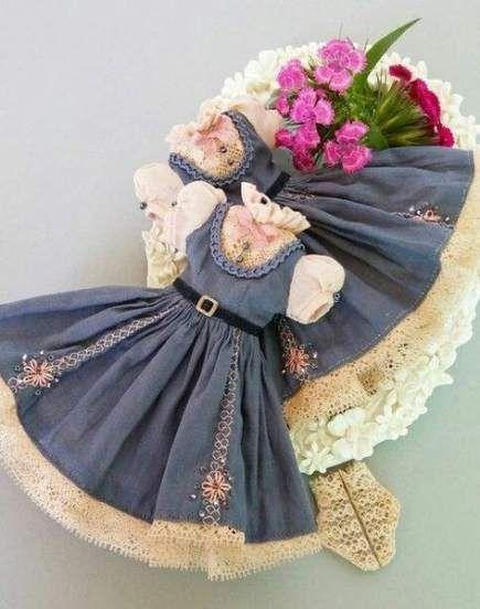 Crochet lace dress pattern girl dolls 37 Trendy Ideas #dolldresspatterns