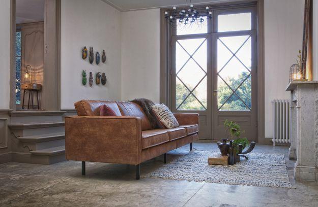 Rodeo bank 3-zits cognac   Banken & fauteuils   Woonkamer ...