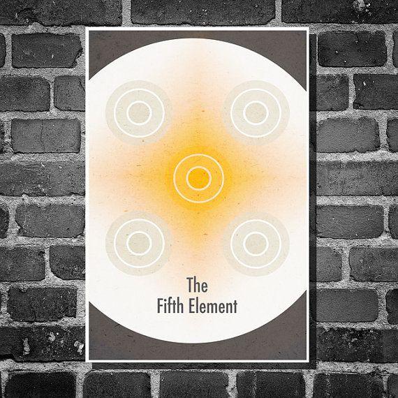The Fifth Element retro poster minimalist poster movie print art poster print 11x17
