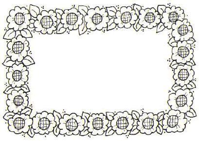 Borda De Flores Para Colorir1 Flores Para Colorir Bordas