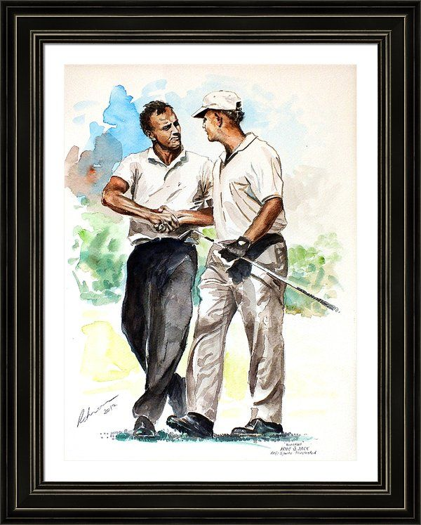 JACK NICKLAUS Ltd Edition art drawing prints 2 sizes A4//A3 /& Note Greetings card