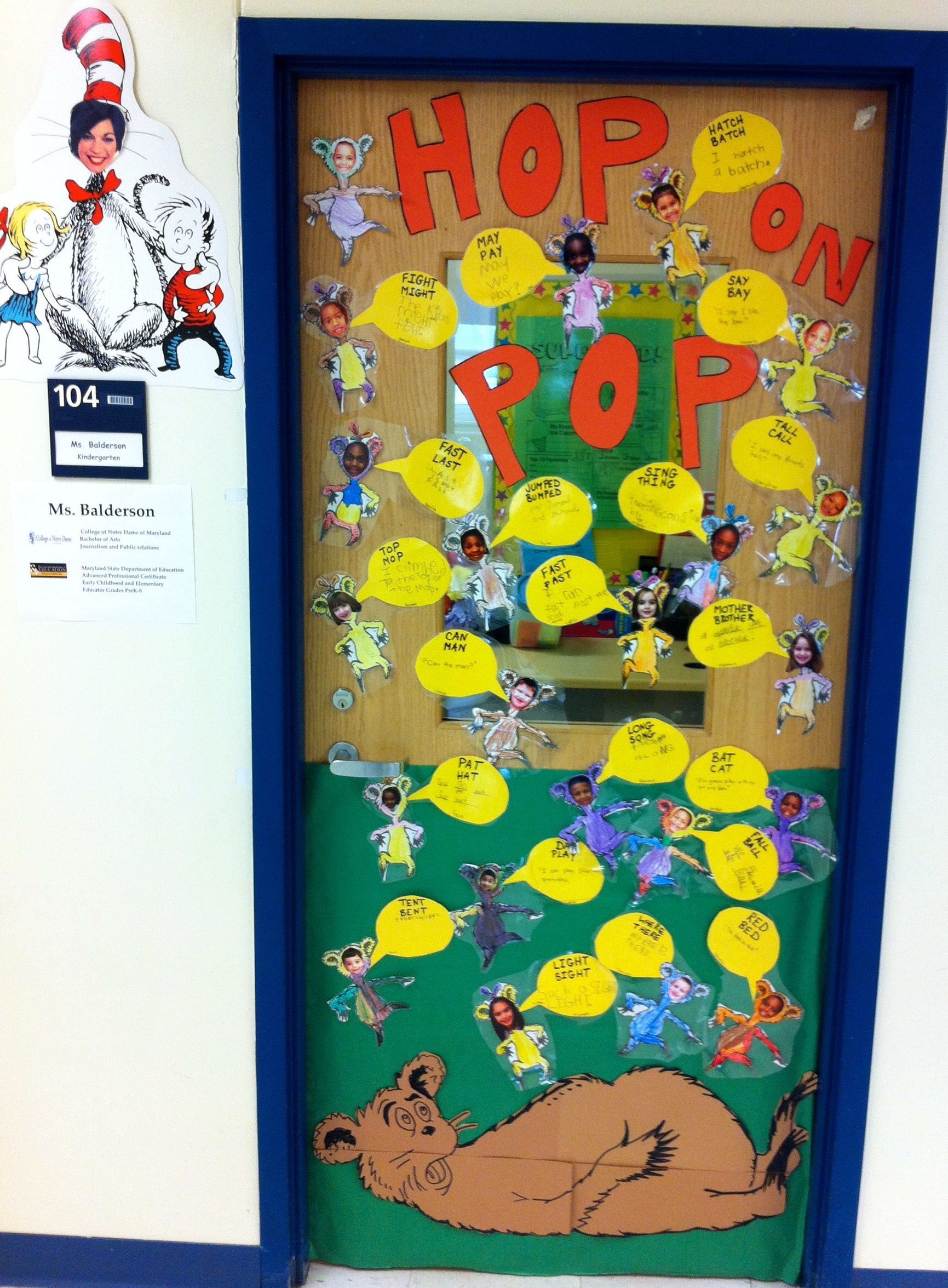 Our class door for Read Across America/Dr. Suess Day. Hop on Pop & Our class door for Read Across America/Dr. Suess Day. Hop on Pop ...