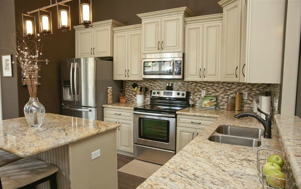 Kitchen Cabinets At Varied Alternating Heights Kitchen