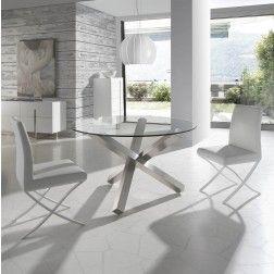 Mesa Comedor Cristal Moderna BZ951 de Angel Cerdá 110 cm. Muebles ...