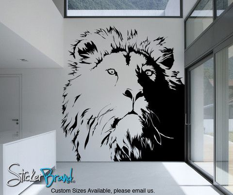 Vinyl Wall Decal Sticker Lionu0027s Head #AC177