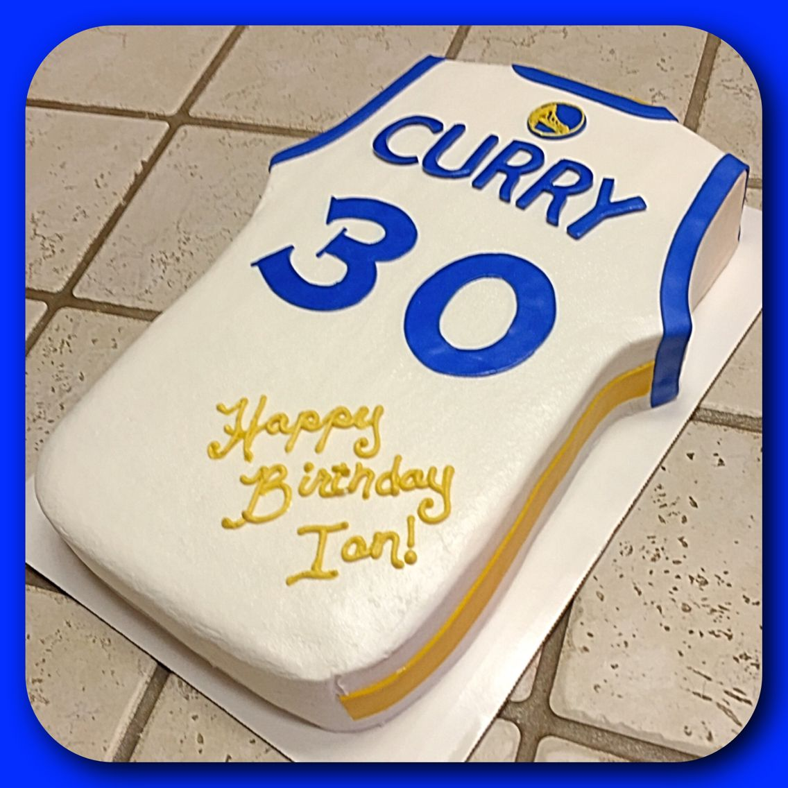 Stephen Curry Jersey Cake Stephen Curry Birthday Basketball