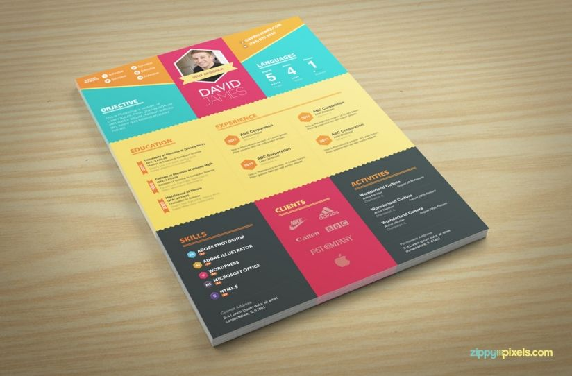 Colorful Stylish Resume and Cover Letter Templates u2013 3 color sets - colorful resume template free download