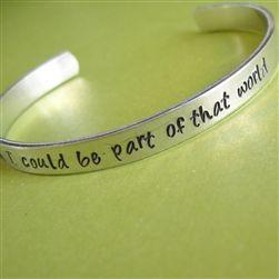 Bracelets, some have Disney quotes.  Sweet.