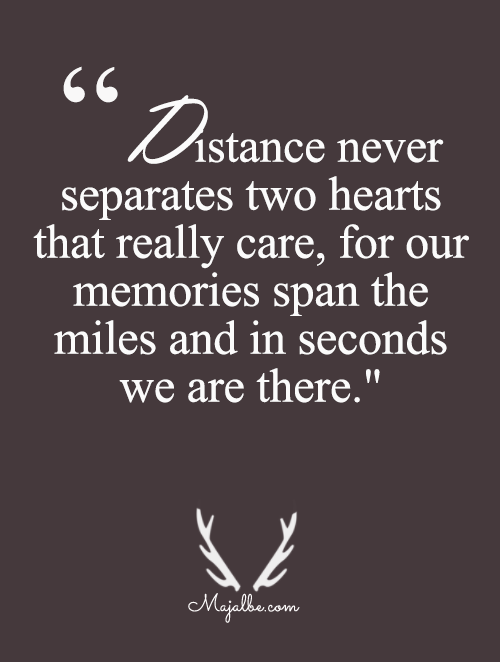 Distance Means No Separation Love Quotes This Is Love Life Quotes