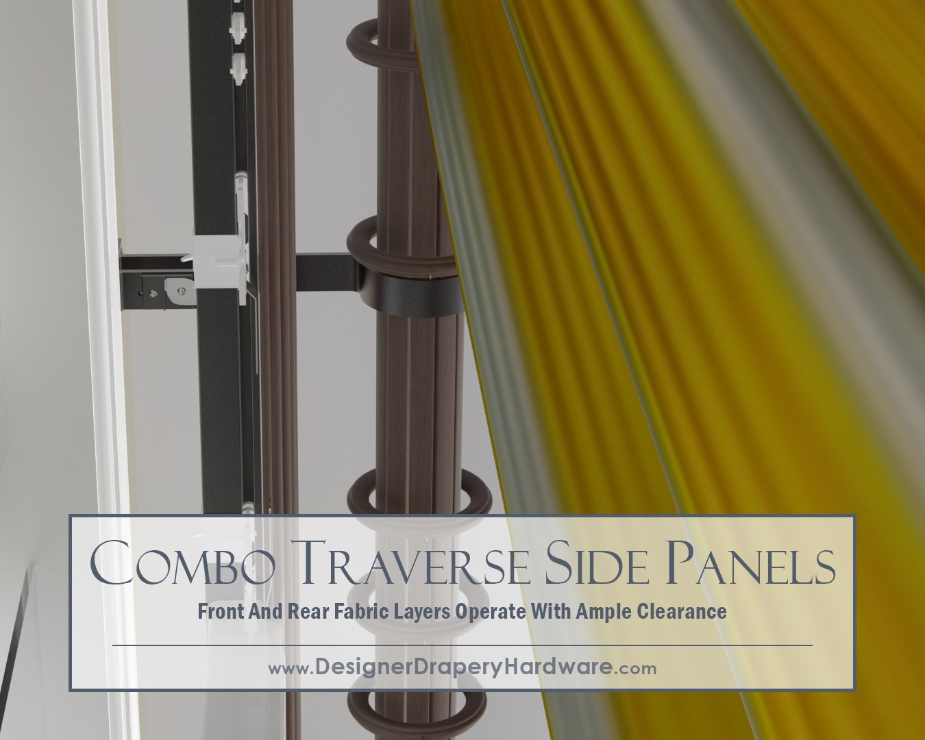 Traverse curtains and rods - The Front Pole With Rings Won T Get In The Way Of Your Rear Decorative Traverse Rod Combo Rods Stay In Perfect Alignment Allowing Both The Front Curtain