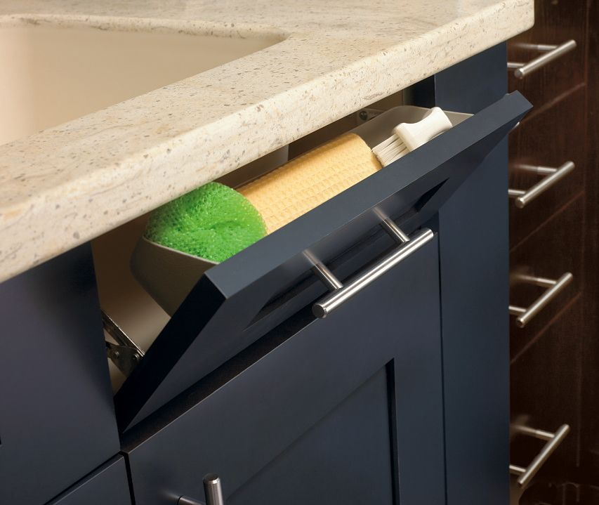 Keep The Kitchen Tidy By Using Even The Smallest Spaces For Storage. The Tilt-out Tray By