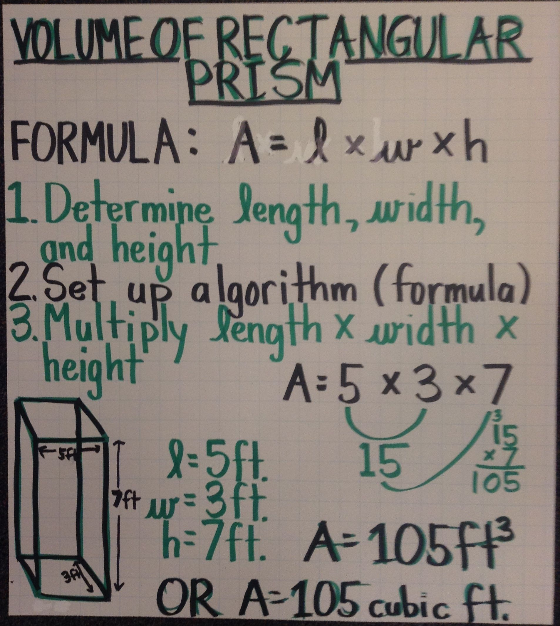 hight resolution of Volume of Rectangular Prism   Sixth grade math