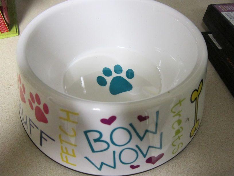 Plastic Dog Bowl $12.00
