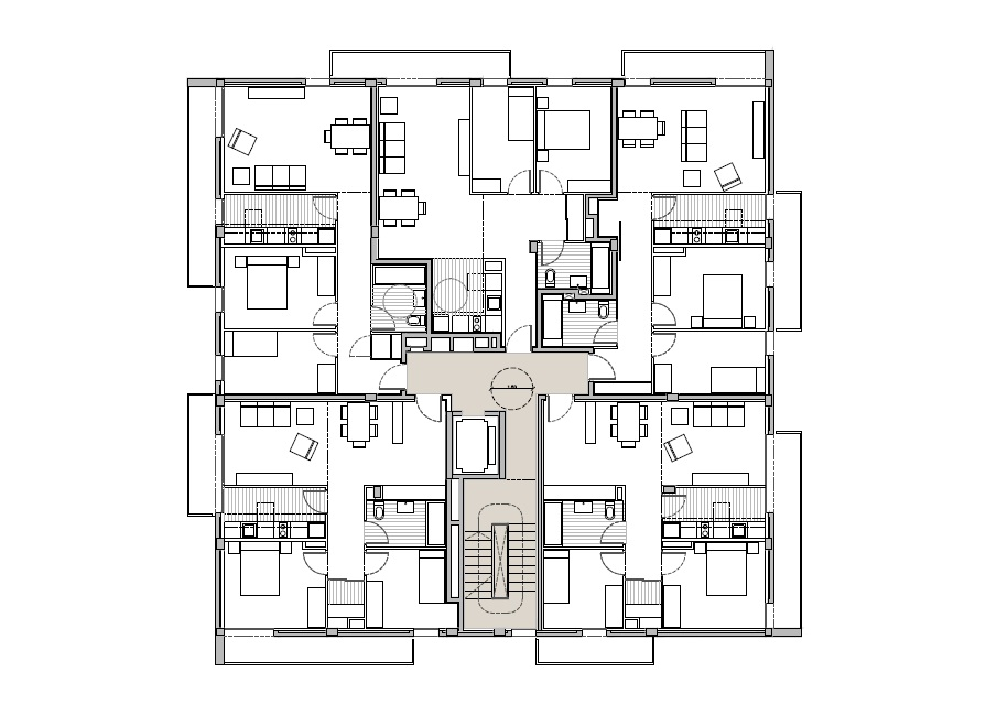 Gallery Of Sentmenat Mirag 8 Apartment Floor Plans How To Plan Apartment Plans