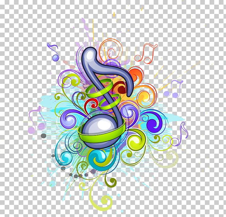 Ilustracion De Nota Musical Azul Y Multicolor Ilustracion De Color De Nota Musical Material De Patron De Notas De Musica Png C Geometric Pattern Clip Art Png