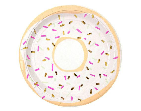 Toot Sweet Foiled Doughnut Paper Plates by Meri Meri - Modern and Chic Party Gold Foil Mint Coral Hot Pink Donut Sprinkles Confetti Cupcake  sc 1 st  Pinterest & Charming party plates for a celebration where cake is served ...