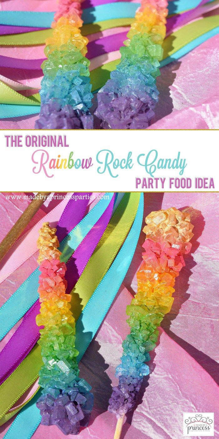 original rainbow rock candy party food tutoria pin it
