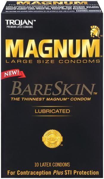 Trojan Brand Condoms Trojan Magnum Bareskin 10 Pack Condoms The Thinnest Magnum Condoms Magnum Bareskin Trojan Condoms