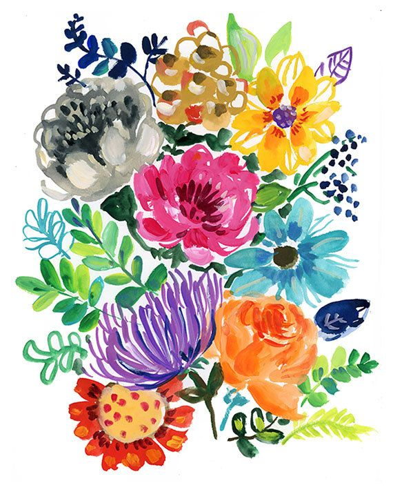 Big Bouquet Archival Print by augustwren on Etsy