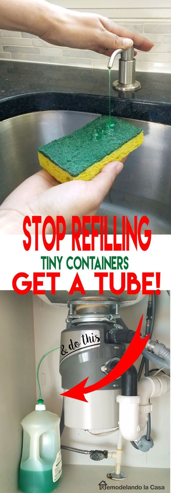 How to stop refilling the soap dispenser for the home pinterest