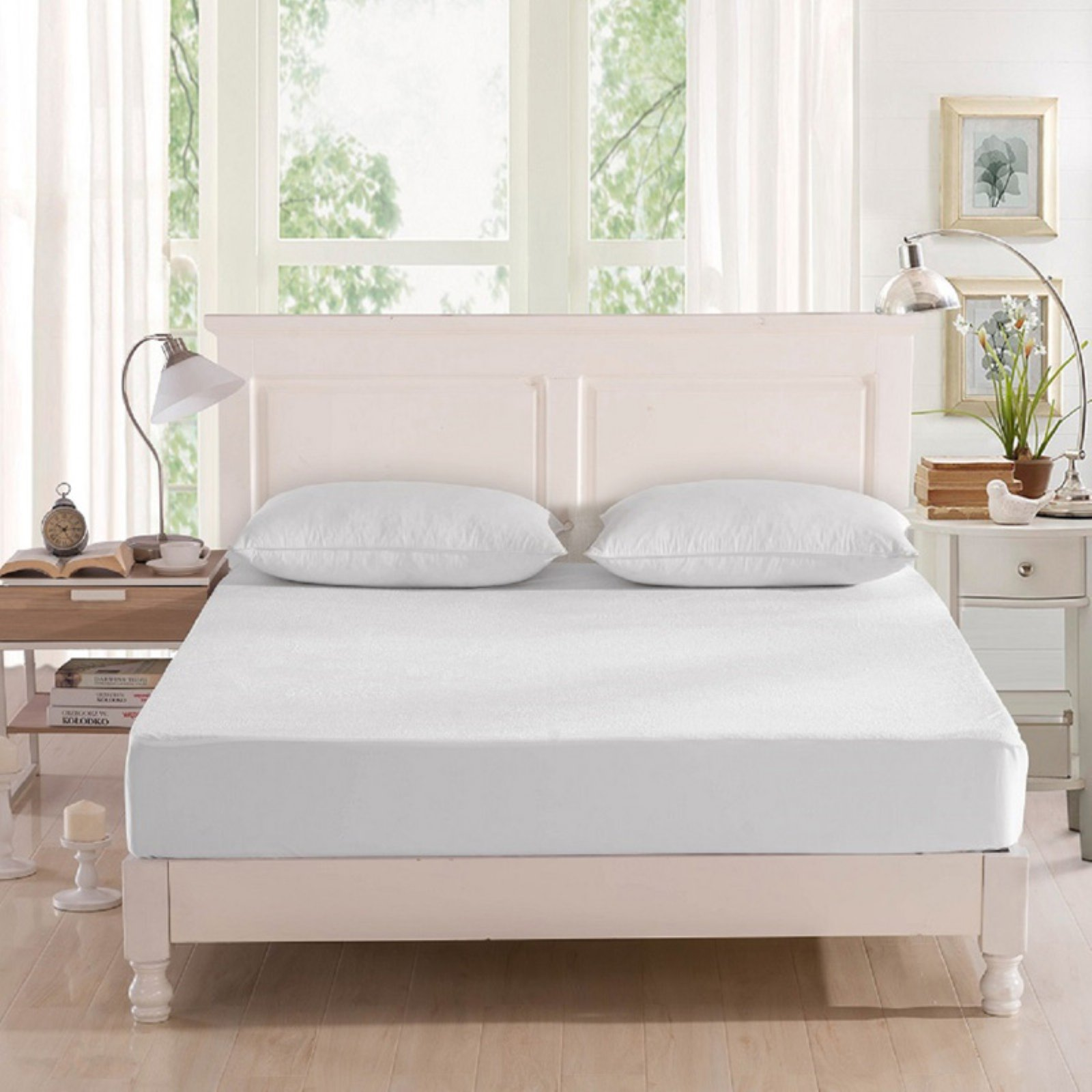 Dream Signature Collection Bamboo Viscose Terry Mattress Protector Size Queen Mattress Protector Mattress King Pillows