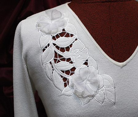 Advanced Embroidery Designs Free Projects And Ideas Wild Rose