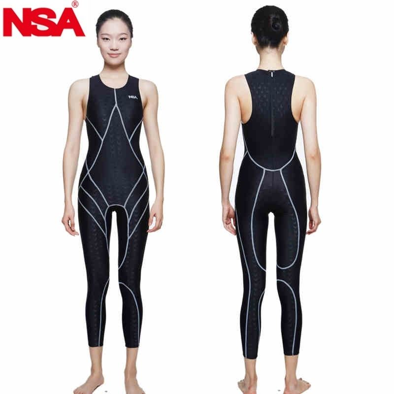 427fde67ee0 NSA swimsuit plus size swimwear arena women racing swimsuits competitive  swimming competition shark professional training female