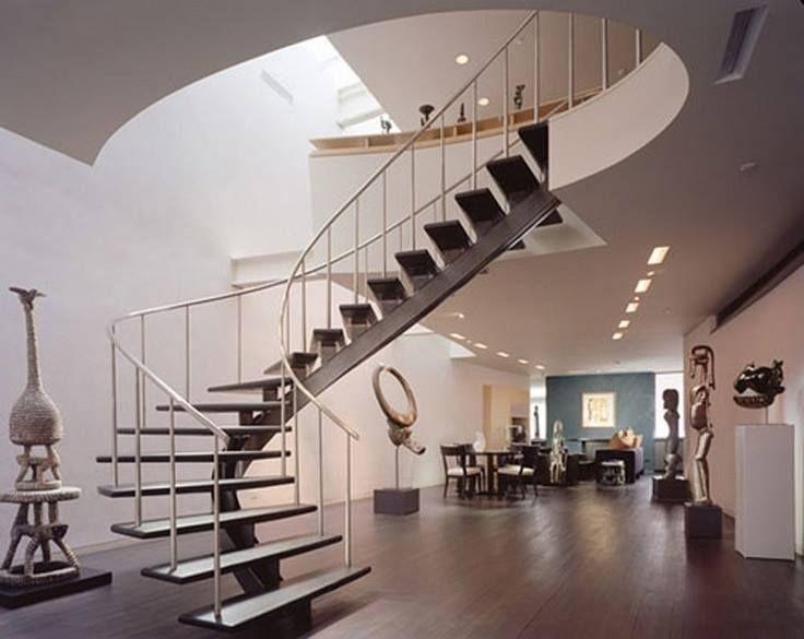 Modelos de escaleras para interiores arquitectura y - Diseno de escaleras interiores ...