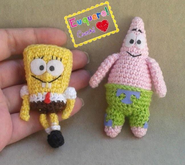 AllSoCute's Crochet SpongeBob Pattern, Amigurumi ... - Ravelry   580x649