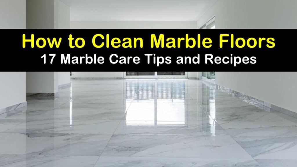 how to clean marble floors with baking soda