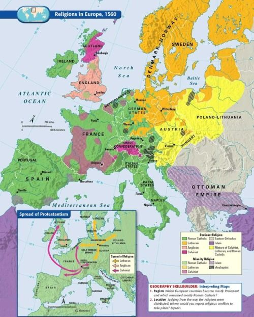 Map Of Europe 1560.Religions In Europe In 1560 Infographics History Maps