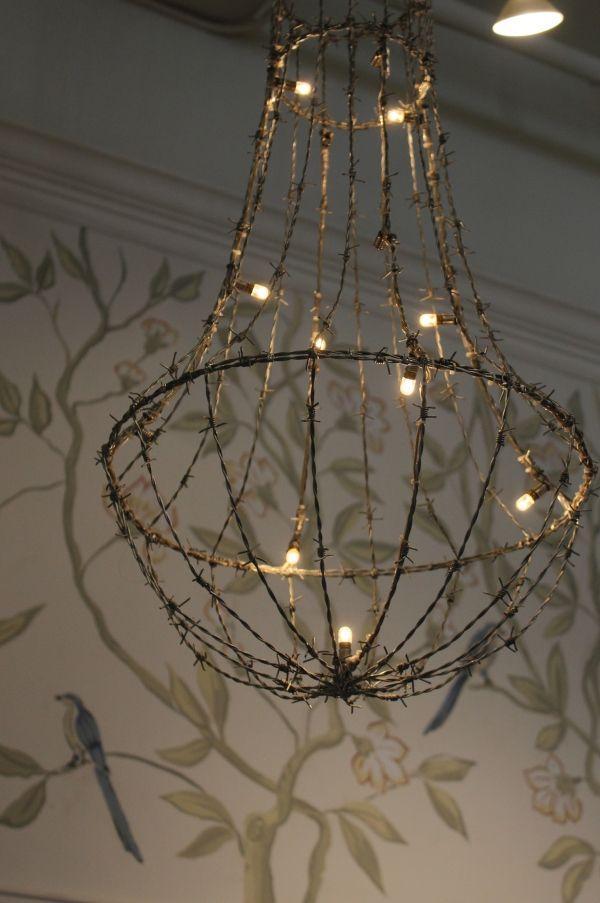Pleasing Veryyyyyyyyyyyy Cool A Barbed Wire Hanging Light Perfect For Wiring 101 Olytiaxxcnl