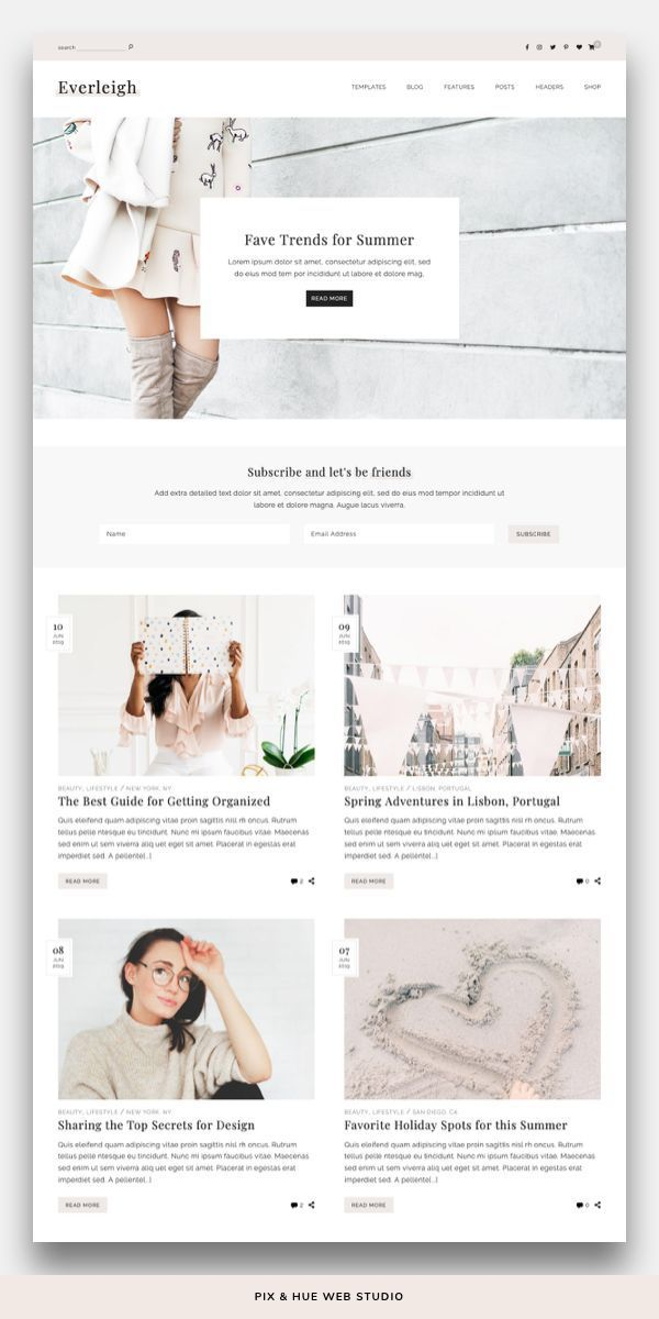 Everleigh WordPress Theme