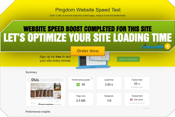 LuikangMK just delivered a WordPress Performance Optimization project on Fiverr. - #WebsiteSpeed #Portfolio