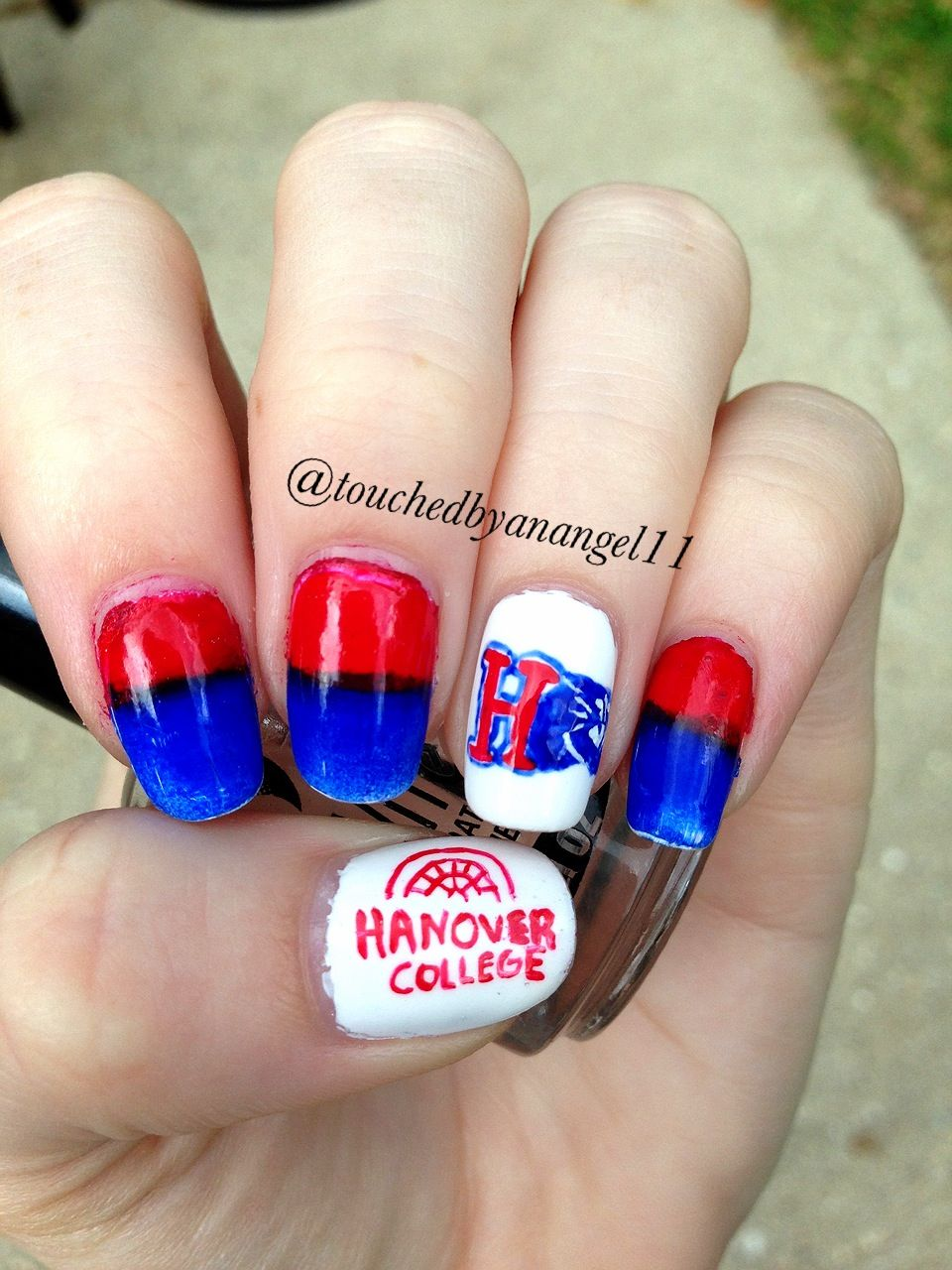 Hanover college nails :)   Colleges   Pinterest   College nails and ...