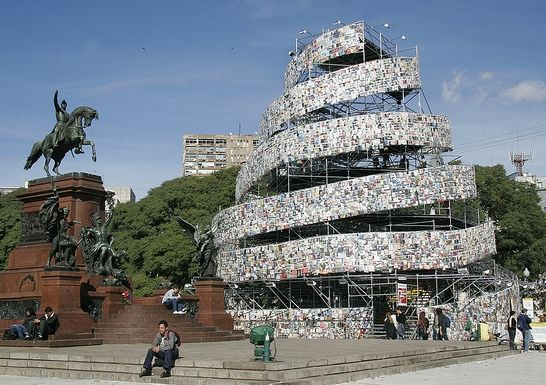 recycled-book-tower-2