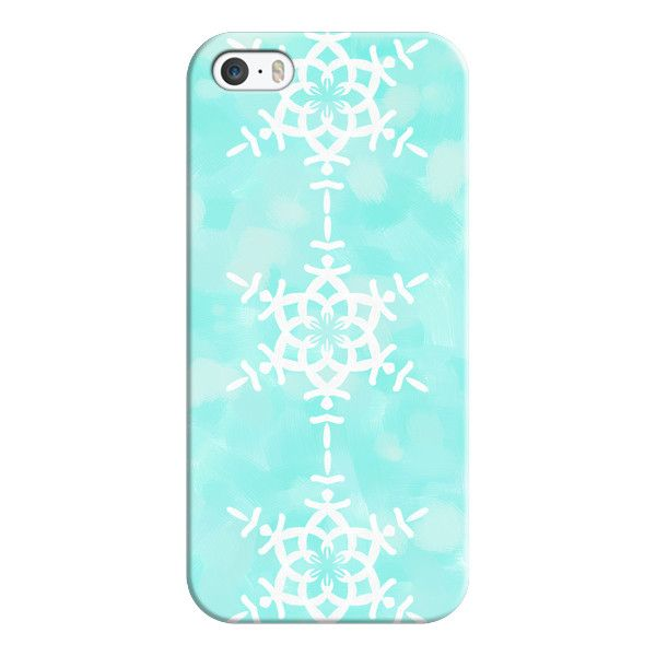 iPhone 6 Plus/6/5/5s/5c Case - Snowflake - Aqua Blue (295 NOK) ❤ liked on Polyvore featuring accessories, tech accessories, phone cases, phones, capas de iphone, phonecase's, iphone case, slim iphone case, iphone cover case and apple iphone cases
