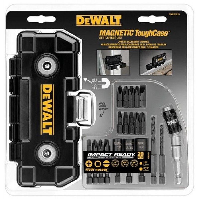 Jogo Com 20 Pontas Para Parafusar Estojo Magnetico Dewalt Dwmtcir20 Impact Driver Dewalt Impact Driver Dewalt Tools
