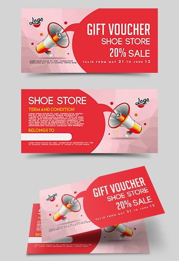 Shoe Shopping Gift Certificate 4 Templates Example Templates Example