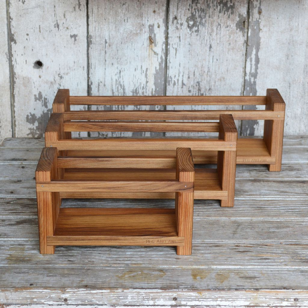 peg & awl - apothecary caddy:  reclaimed cypress s m l