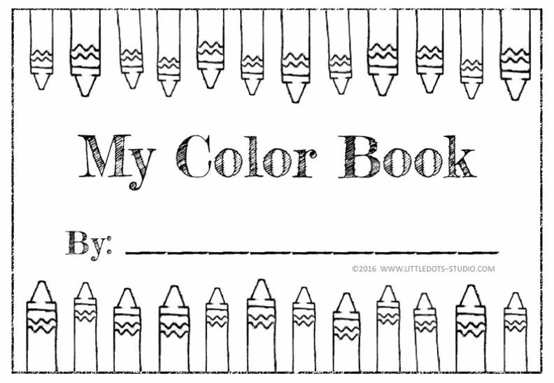 Preschool Activity My Color Book printable for pre-K by Little Dots ...
