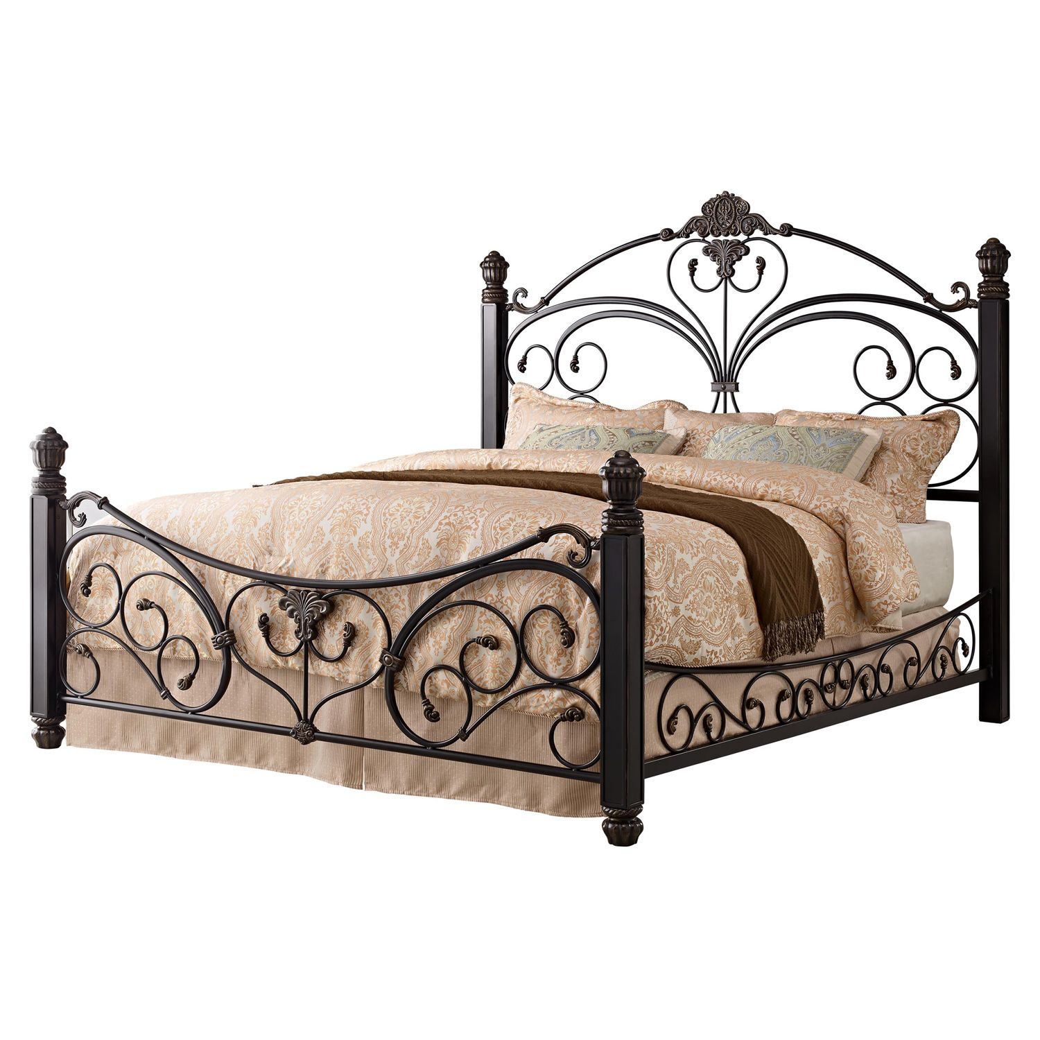 Alysa Metal King Bed With Decorative Side Rails Sam S Club Our
