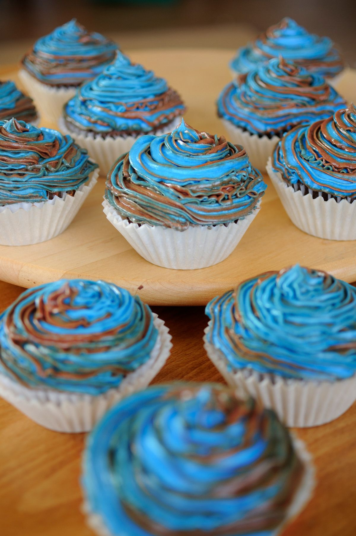 Manly Cupcakes.  Gluten-free chocolate mocha cupcakes.