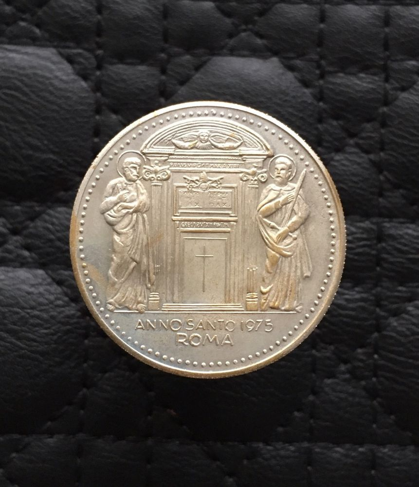 Details Zu Münze Vatikan Medaille Pavlvs Vi Anno Santo 1975 Roma