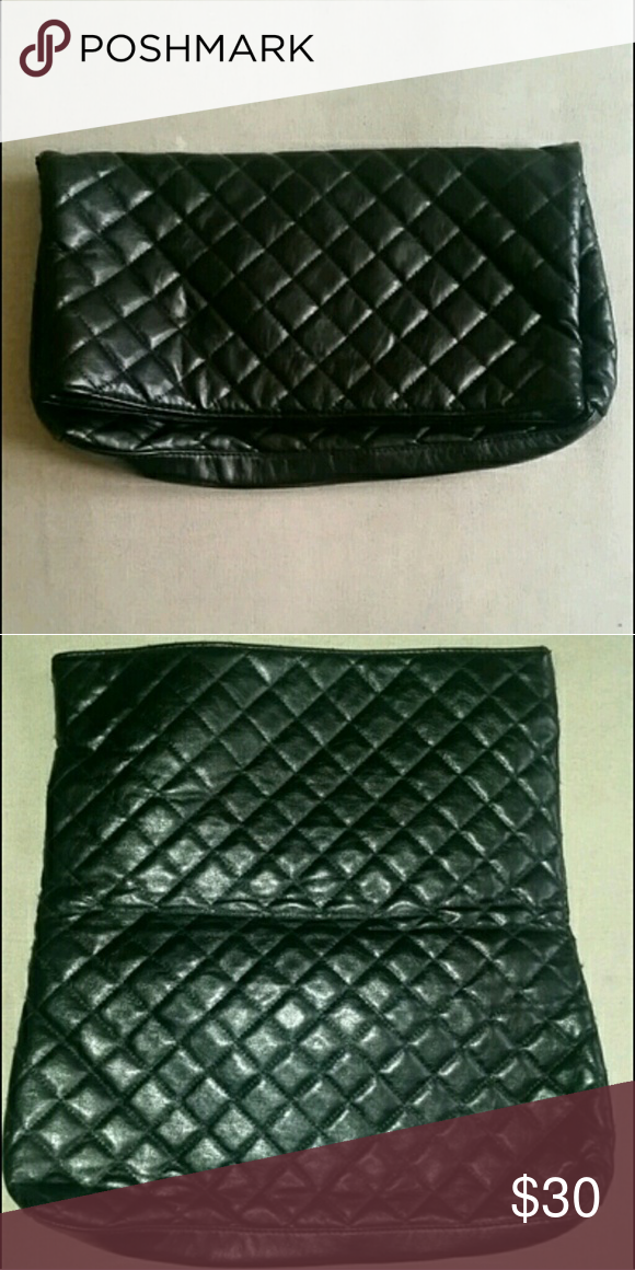 52429220e Clutch Chanel inspired design. No this is not a Chanel. Do not flag my  post. This is a very big clutch. Gently used. Black. Bags Clutches &  Wristlets