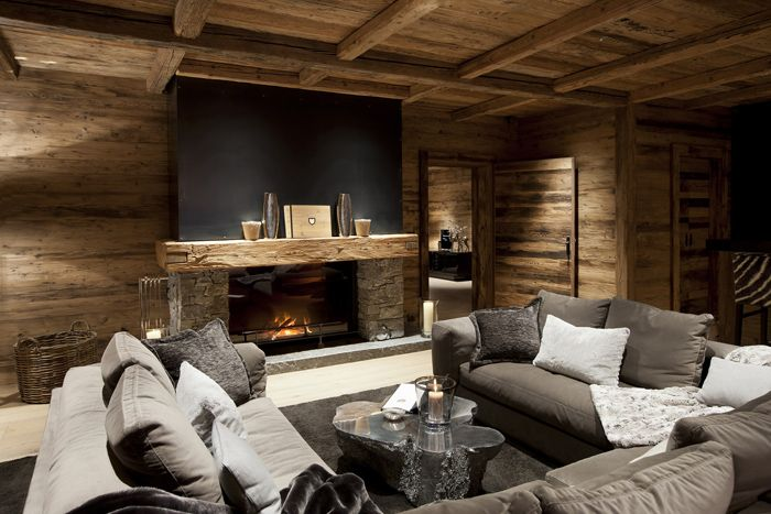 Потрясающее chalet n в Австрии restyling woonkamer