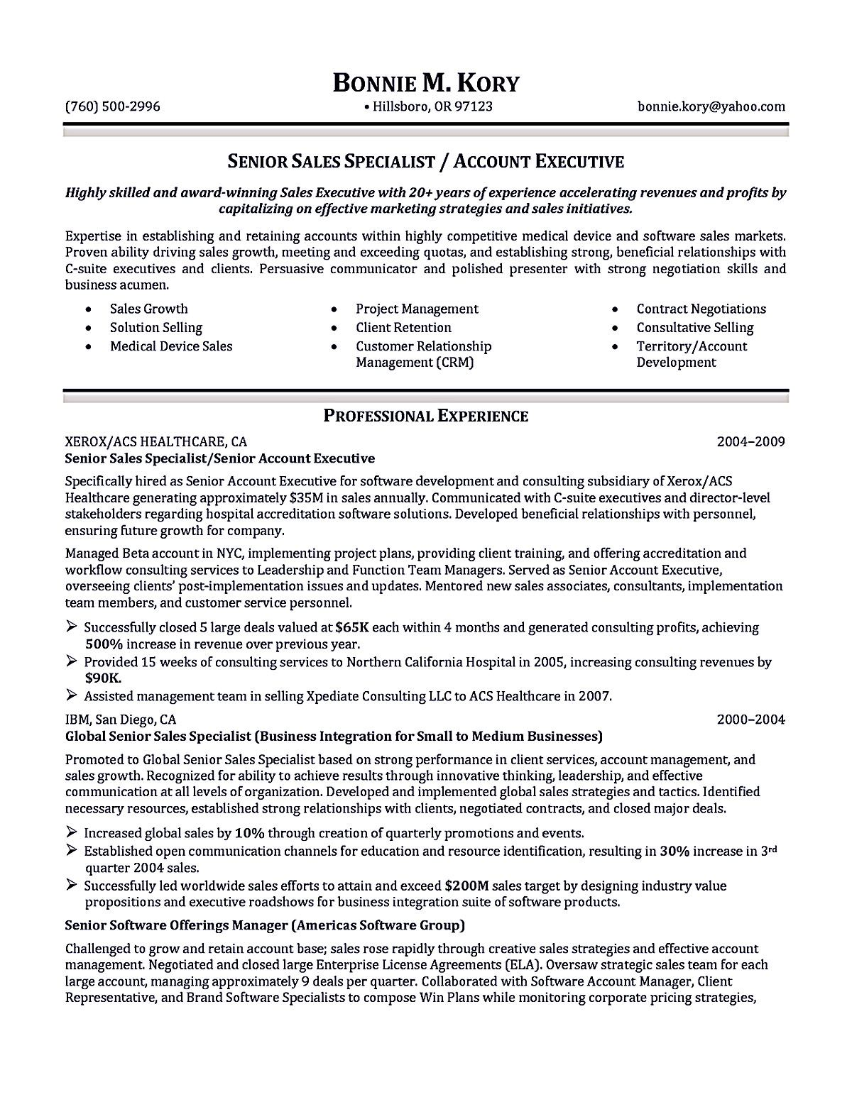 Account Executive Resume Sample Account Executive Resume Is Like Your  Weapon To Get The Job You