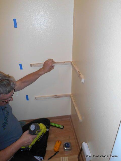 DIY Floating Corner Shelves images